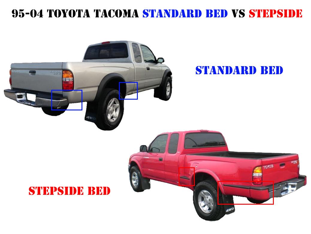 1995-2004 Toyota Tacoma Standard Bed Vs Stepside BedPlease ...