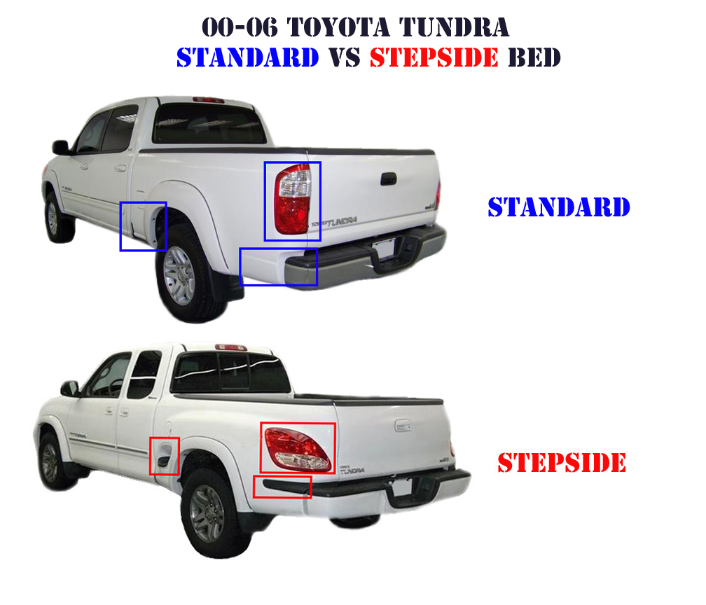 2000 2006 Toyota Tundra Standard Bed Vs Stepside Bedplease
